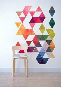 oiginelles kreatives Wandbild in verschiedenen Farben