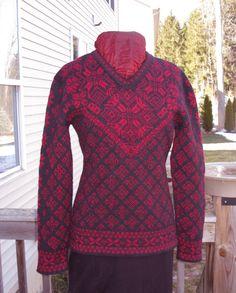 https://flic.kr/p/bRzsoc | Norwegian sweater 2.1 | Front of the Norwegian style sweater I designed for my daughter.