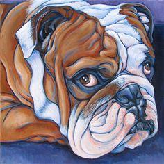 12 x 12 Custom Pet Portrait Painting in by bethanysalisbury, $160.00