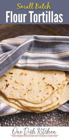 Skip the store and make a small batch of fresh homemade tortillas with this easy flour tortilla recipe. Better than store-bought these flour tortillas are made with pantry staples and can be ready in minutes. Recipes With Flour Tortillas, Fresh Tortillas, How To Make Tortillas, Homemade Flour Tortillas, Flour Recipes, Making Tortillas, Kitchen Dishes, Kitchen Recipes, Cooking Recipes