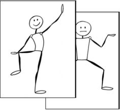Review with body movements; free body movement cards
