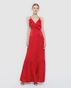 58aa28c93b Vestido de mujer Easy Wear jacquard con volantes