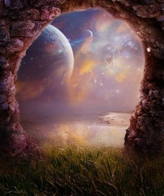 Through the portal- between each breath is a space where they/we meet... go there......the invitation is always beaconing  your presence! no cover... time is the magic password.