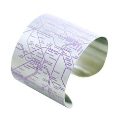 Paris Metro Cuff Violet, $24, now featured on Fab.