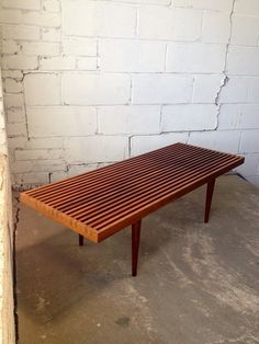 Mid century Danish modern dovetailed slat bench Lovely mid century Danish modern teak slat bench / coffee table in excellent vintage condition. Classic mid century slatted design in the style of George Nelson. Dovetailed joint detailing on eithe… Danish Modern, Mid-century Modern, Modern Homes, Modern Classic, Modern Rustic, Rustic Furniture, Furniture Design, Outdoor Furniture, Antique Furniture