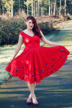 #stylegallery #reddress #fitandflare