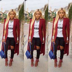"""Happy Friday ❣ Cape Blazer Nasty Gal  Top F21 Jeans @klosetenvy  Bag Chanel  Shoes Monika Chang"""