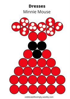 Minnie Mouse Pull-Apart Cupcake Cake Template