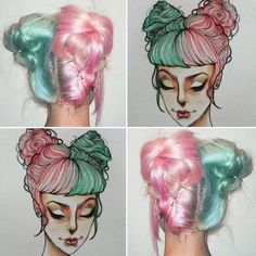 fairy floss hair - too cute!