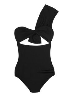 4658999d436e1 Incredibly Chic Black-Swimwear Inspiration for Summer. Cute One Piece ...