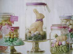 Easter jars...Martha Stewart
