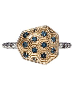 Stephen Dweck Gold Horizontal Galactical Ring available at Liberty London