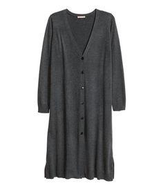 H M+ Longcardigan   Schwarzmeliert   Damen   H M DE Lange Ärmel, V  Ausschnitt, Outfits d120d21319