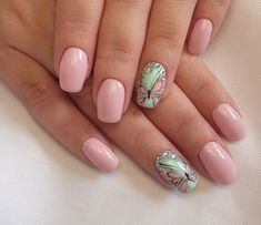 Beautiful and Simple Butterfly Nails French Butterfly Nails