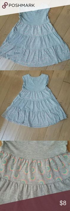 Circo Rainbow Dress So cute! Circo cotton/poly swingy gray dress with cheery rainbow designs. Twirly dress, but casual and comfy. Size 4T. Gently used, but in excellent condition. Circo Dresses Casual