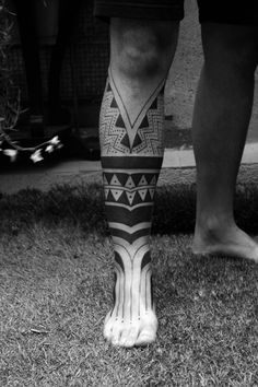 Maori half leg tattoo- Not sure if I like this or not