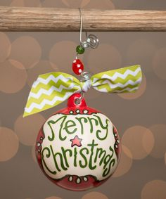 Look at this #zulilyfind! 'Merry Christmas' Personalized Ball Ornament by  #zulilyfinds