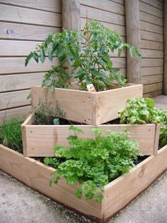 Stacking raised garden beds - would be great for herbs