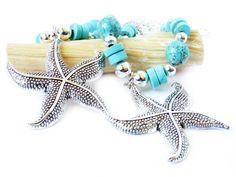 Starfish Tiebacks Curtain Tiebacks Shabby by BeachCottageFinds