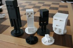 3D printed Minecraft chess set. The best gift for the kids from Santa. Check  https://www.facebook.com/Revolution3dPrinters/?fref=ts