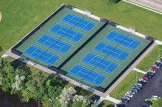 Beloit Memorial High School - 8 new tennis courts with below surface drainage, windscreens, seating and perimeter walkways.