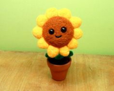 Plants Vs Zombies Garden Warfare Pictures Cute Sunflower Custom Wall Nut Potted Plant Plants Vs Z Plants Vs Zombies Felt Flowers Potted Sunflowers
