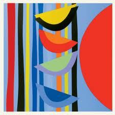 Buy- Vertical Rhythm II- signed limited edition abstract silkscreen print by Sir Terry Frost from CCA Galleries online. Bright Art, Principles Of Design, English Artists, Modern Masters, Silk Screen Printing, Art Plastique, Op Art, Frost, Modern Art