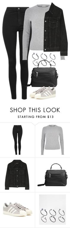 """Untitled #4233"" by keliseblog ❤ liked on Polyvore featuring Topshop, River Island, J Brand, Linea Pelle, adidas and ASOS"