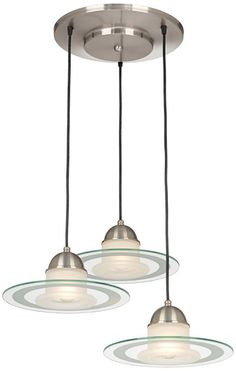 Brushed Steel Orb 20-Inch-W Modern Pendant - #EU71230 - Euro Style Lighting