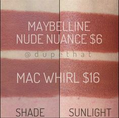 "Lipstick Dupes: MAC ""Whirl"" and Maybelline ""Nude Nuance"""