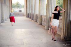 Fashionblogger in Berlin - Minirock in weiß mit schulterfreiem