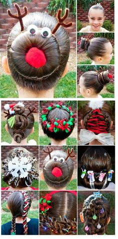 1000 Images About Girly Hair Do S Inspired By Christmas