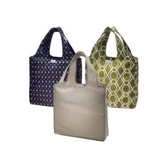 RuMe Bags Medium 3-Pack Shopping Tote Collection.
