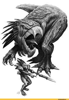 warhammer 40000,wh песочница,фэндомы,tau empire,kroot,Great Knarloc