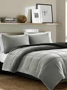 FullQueen Comforter Set Eddie Bauer Premium Fleece Chrome *** Click on the image for additional details.