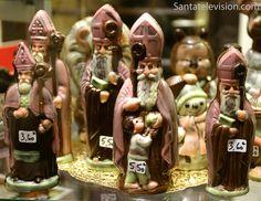 Suklaasta tehtyjä Pyhiä Nikolaoksia Nancyn kaupungissä Itä-Ranskassa