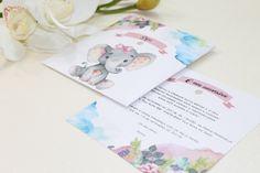 Convite para aniversário de menina com elefante Little Girl Birthday, Invitation Birthday, Girls