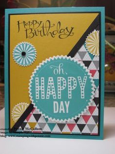Starburst Sayings B-Day Card created by Pennie McCallum