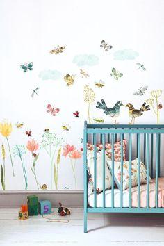 Butterfly Dragonfly Moth Arthouse Fantasia Glitter Bug Multi Wallpaper 692308
