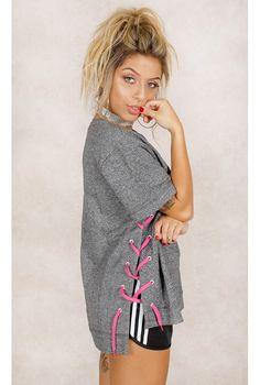 Camiseta Adidas Drawcord Mescla Fashion Closet - fashioncloset