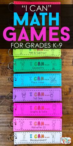 I CAN Math Games for Every Math Classroom