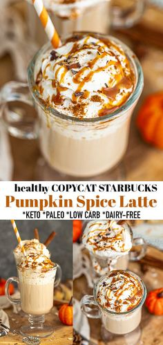 How to make Pumpkin Spice Latte at home with simple & healthy ingredients you have in your kitchen. This healthy pumpkin coffee is full of warm spices and delicious pumpkin flavor. A sugar free homemade keto pumpkin spice latte coffee that is also paleo, vegan, low carb and dairy-free so you can skip the trip to your local coffee shop and stay cozy at home with this copycat Starbucks version. #psl #pumpkinspicelatte #pumpkin #keto #copycatstarbucks Homemade Pumpkin Spice Latte, Starbucks Pumpkin Spice Latte, Pumpkin Spiced Latte Recipe, Pumpkin Recipes, Fall Recipes, Drink Recipes, Copycat Recipes, Recipes Dinner, Cocktail Recipes