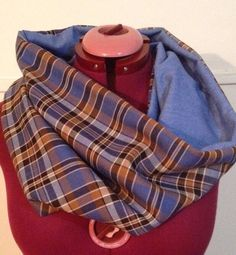 A personal favourite from my Etsy shop https://www.etsy.com/au/listing/533152171/denim-check-tartan-slouch-blue-navy-sky