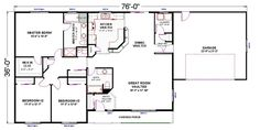 Ballenger Home Plan - Rambler Style, Single Story Home Built On Your Lot. Fully Customizable Floor Plan with Quality Home Features. Beautiful House Plans, Beautiful Homes, Tuscan House Plans, 5 Bedroom House Plans, Free House Plans, Single Story Homes, Home Design Plans, Building A House, Sons