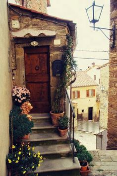 Tuscany, Italy.  It's so much to walk down these narrow streets, everyone says hello, everyone smiles...awesome !!