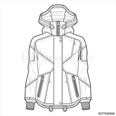 Find Outer Jacket Fashion Flat Sketch Template stock images in HD and millions of other royalty-free stock photos, illustrations and vectors in the Shutterstock collection. Flat Drawings, Flat Sketches, Zara Fashion, Fashion Flats, Teen Jackets, Fall Jackets, Jacket Drawing, Kleidung Design, Clothing Sketches
