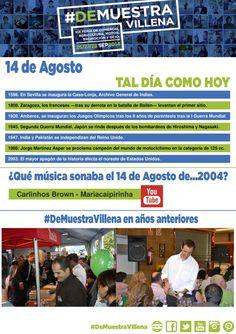 TAL DÍA COMO HOY. 14 de Agosto. #DeMuestraVillena  www.muestravillena.villena.es www.facebook.com/Muestravillena @muestravillena
