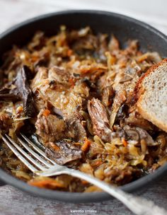 Ribs in cabbage with mushrooms Pork Recipes, Crockpot Recipes, Cooking Recipes, Healthy Recipes, Food Porn, Good Food, Yummy Food, Pork Dishes, Food And Drink