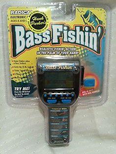Bass Fishin NEW Handheld Electronic Video Game Travel Toy Radica