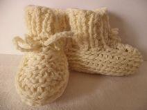 Babyschuhe gestrickt 62/68 Schurwolle Schuhe Wolle